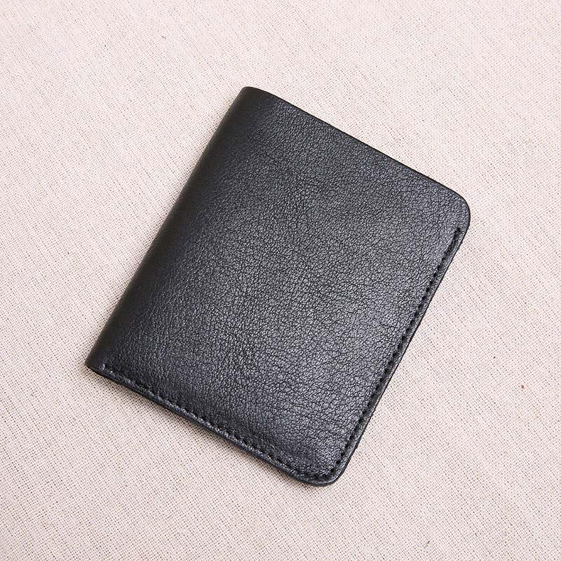 Aetoo Die Erste Schicht Von Leder Ultra-dünne Mini Brieftasche Männer Vertikale Student Handgemachte Brieftasche Aus Weichem Leder HöChste Bequemlichkeit