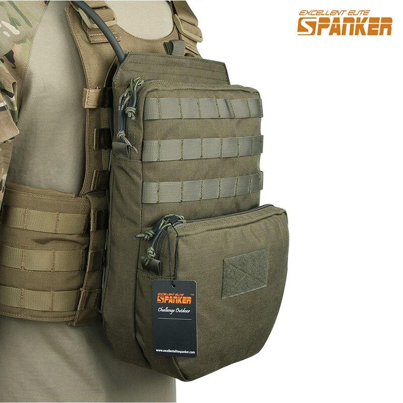 Excelente ELITE SPANKER Tactical hidratación bolsa caza chaleco hidratación bolsa Camo Nylon chaleco al aire libre bolsa de equipo