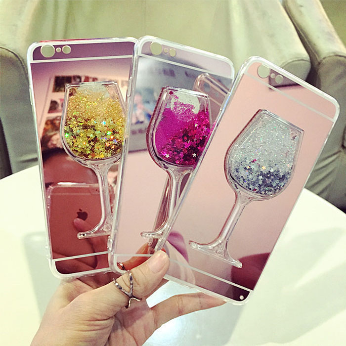 Soft Mirror Case For Huawei Honor V10 V9 V8 9 8 7 6 Plus 7X 6X 6A 5X 5A 4X Dynamic Liquid Quicksand Glitter Phone Case Cover