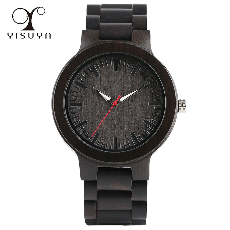 все цены на Classic Unique Sandalwood Watch Quartz Movement Analog Bracelet Clasp with Wood Strap Watches for Men