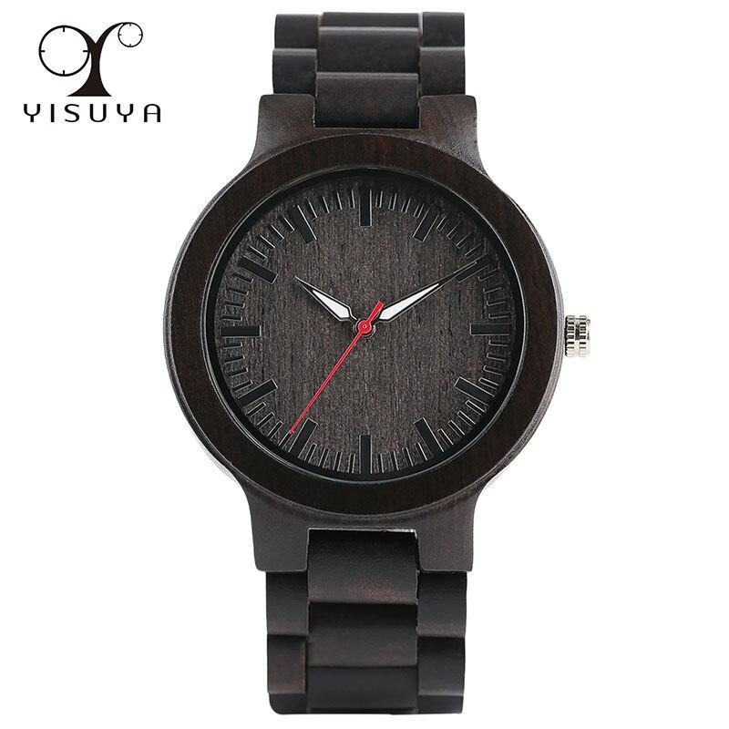 Montre classique Unique en bois de santal mouvement à Quartz Bracelet analogique fermoir avec Bracelet en bois montres pour hommes