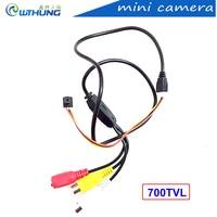 Vendita calda di alta qualità 700TVL 3.7mm lens super piccolo 8*8mm colore videocamera HD Piccolo Mini home Security CCTV Pin Hole Camera