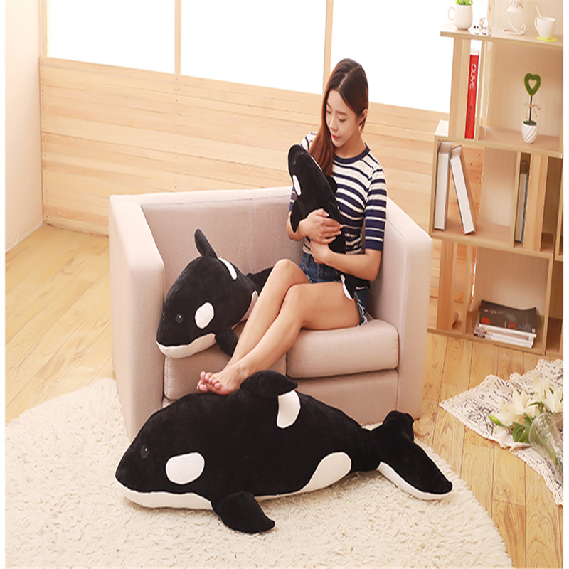 Obedient 50cm/80cm/120cm Killer Whale Doll Pillow Whale Orcinus Orca Black And White Whale Plush Toy Doll Shark Kids Boys Girls Soft Toys Customers First Dolls & Stuffed Toys