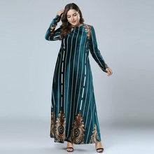 42f9d5dc9f35 2018 Abaya Musulmano Delle Donne di Inverno A Maniche Lunghe Maxi Vestito  Elegante EMIRATI ARABI UNITI