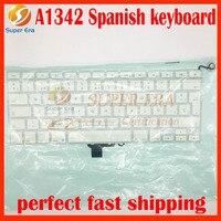 SP Espanha teclado Espanhol para macbook A1342 13.3 ''A1342 SP layout sem backlight 2009 2010 ano