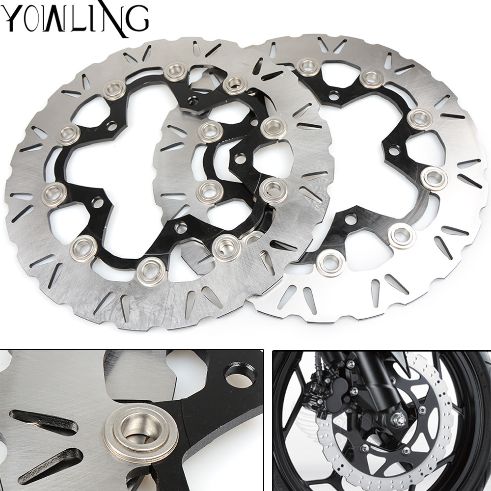 One Pair CNC High quality Motorcycle Front Floating Brake Disc Rotor for SUZUKI DL650 ABS/NON DL650ABS 2007 2008 2009 K7 K8 K9 one pair cnc high quality motorcycle front floating brake disc rotor for suzuki gsf1250 bandit abs non 2007 2008 2009 gsf1200 k6