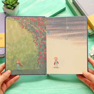 Image 3 - New Vintage Little Prince Notebook Color Paper Hardcover Diary Book Planner School Office Supplies Stationery