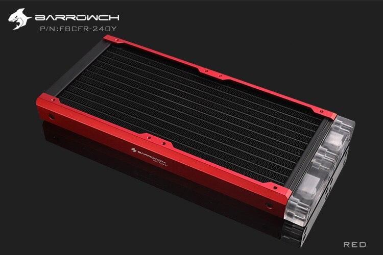 BARROWCH 240 мм радиатор POM/акриловое издание модульный Хамелеон рыбы съемный мульти-красочный FBCFR-240 новое поступление - Цвет лезвия: Red Acrylic