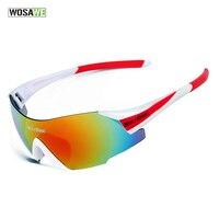 Spor ve Eğlence'ten Bisiklet Gözlükleri'de WOSAWE UV400 bisiklet gözlük kadın erkek açık spor bisiklet bisiklet rüzgar geçirmez güneş gözlüğü 3 renk 1 Lens ile orijinal kutusu