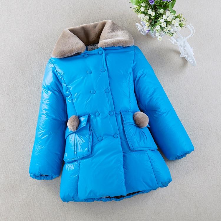 Winter Baby Girls Down Jacket Children 80% White Duck Down Padded Coat