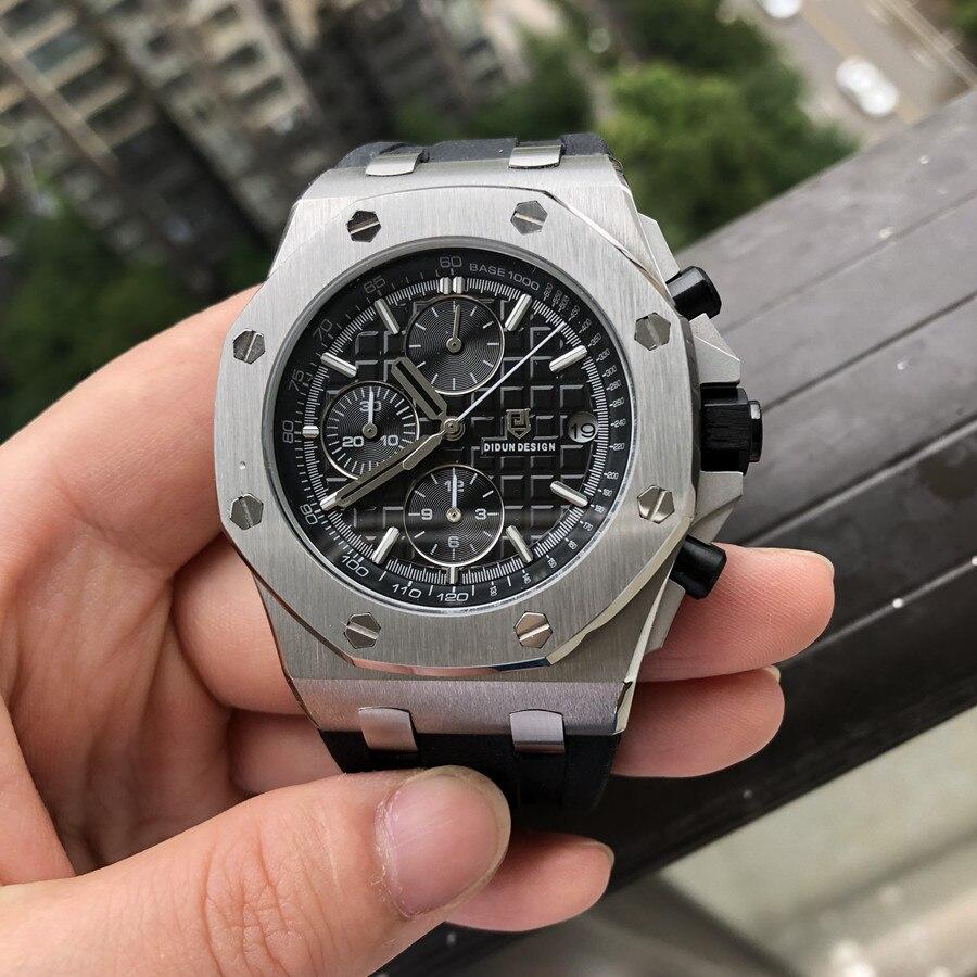 DIDUN montre hommes mode Sport Quartz horloge hommes montres Top marque de luxe en acier complet affaires étanche montre Relogio Masculino