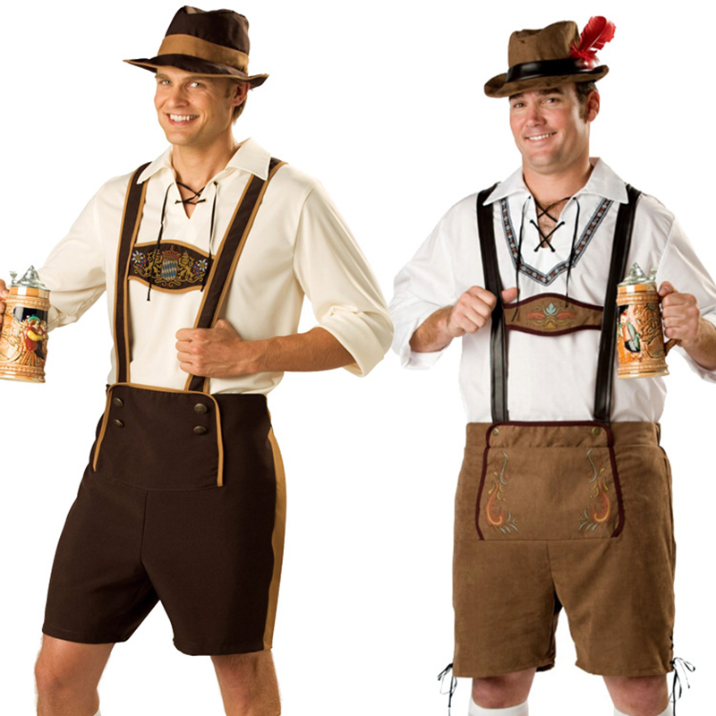 Plus Size Men's Oktoberfest Costumes Traditional German Bavarian Beer Female Cosplay  Halloween Octoberfest Festival Clothes