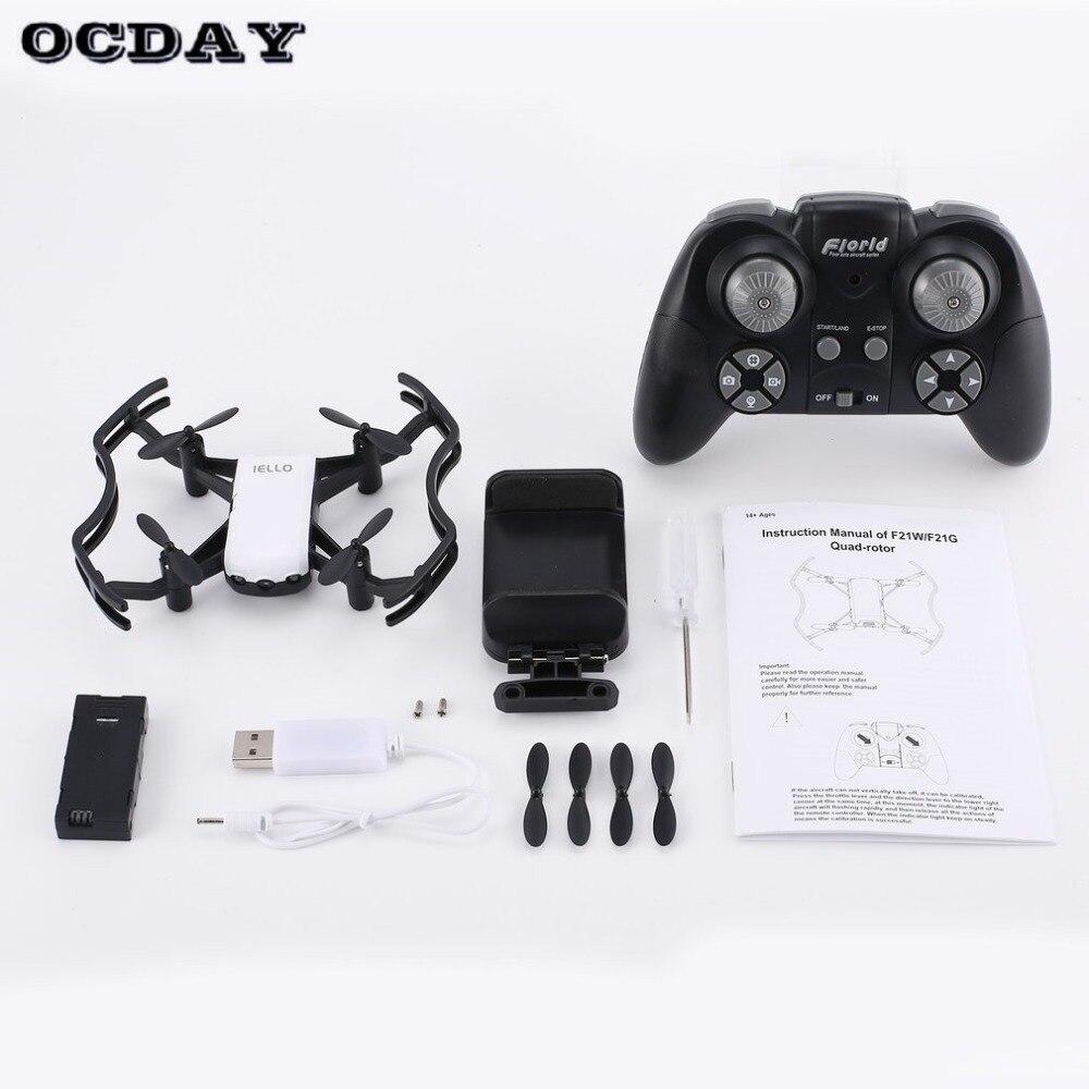 F21g2.4g Rc Mini Quadcopter Drone Met 720 P Hd Wifi Fpv Camera Flow Positionering Gebaar Hoogte Houden Headless Modus Gebaar Gemakkelijk Te Smeren