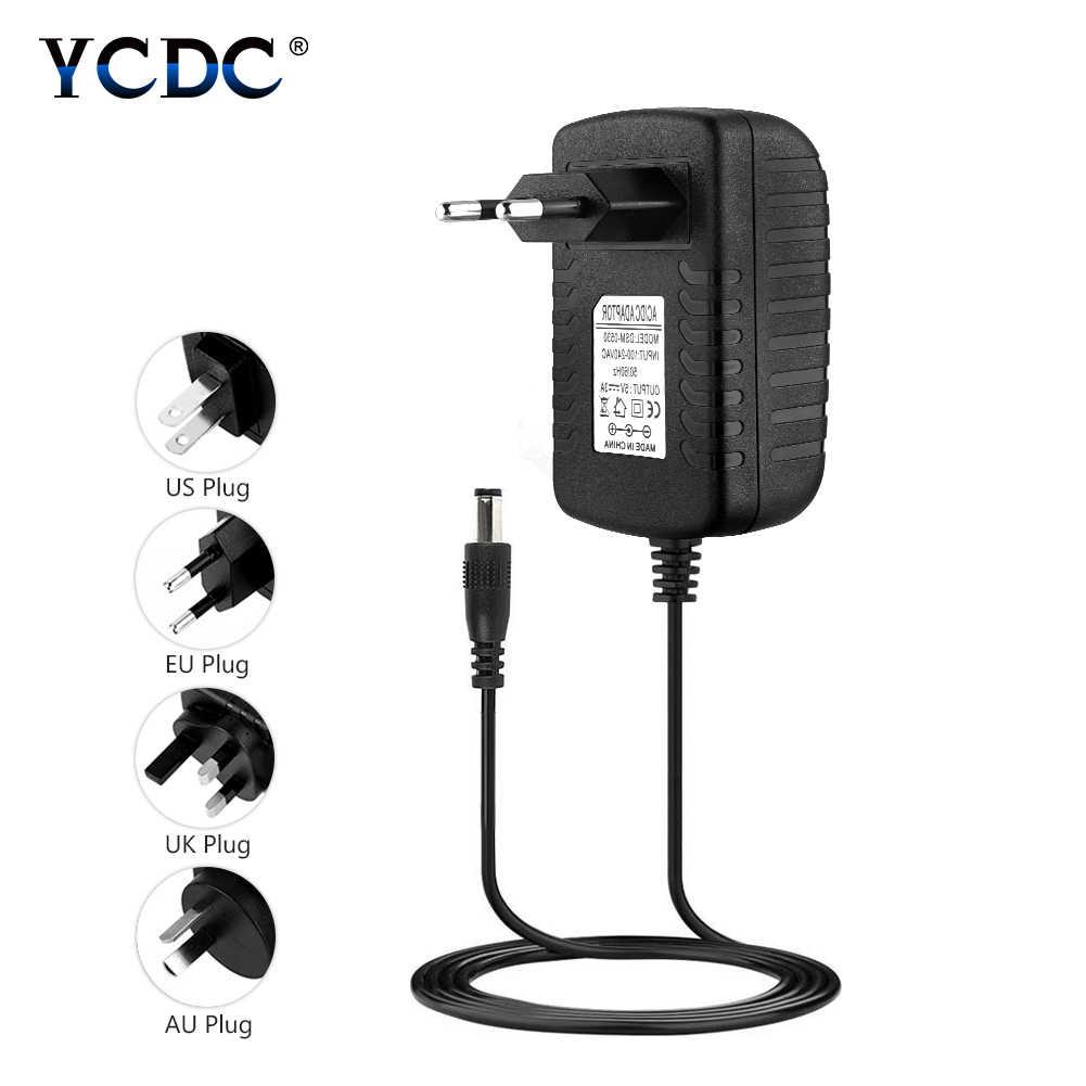100-240 В AC к DC Мощность адаптер питания переходник для зарядного устройства 12 В/2A США ЕС Великобритания АС Plug 5,5 мм x 2,1 мм для коммутатора Светодиодные ленты Лампа
