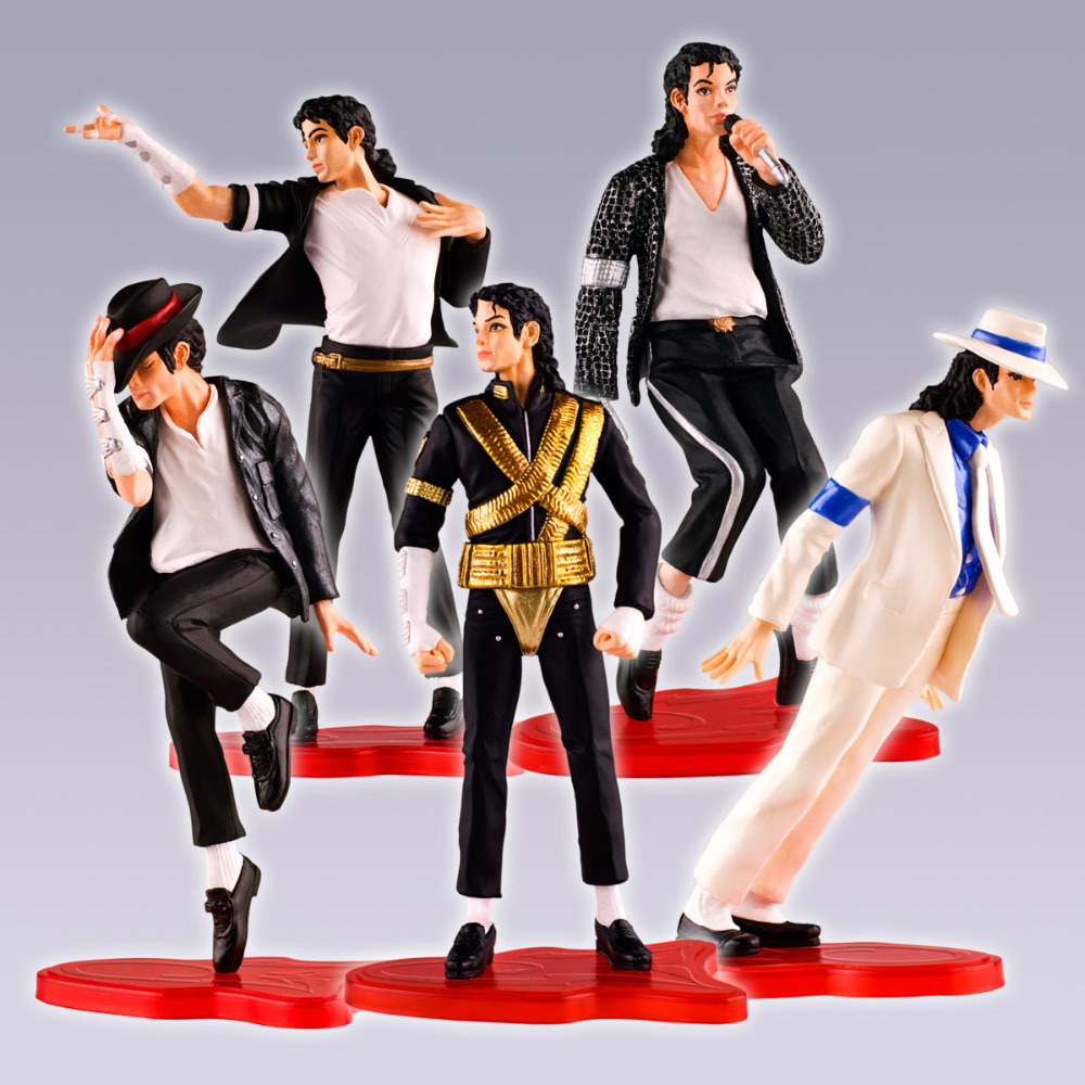 Very hot 5pcs /a set Classic 5 Pose 11cm Michael Jackson Action Figure Toys PVC Model Collective Toys new lcd touch screen digitizer with frame assembly for lg google nexus 5 d820 d821 free shipping