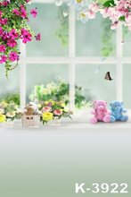 Vinyl Background Photo For Baby 150CM x 200CM Photographic Backdrops Outdoor Window Beauty Flowers Decor Kids Scenic Backgrounds