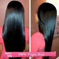 """Halo Lady cabelo 8 """" ~ 40 """" 7A barato Raw indiano cabelo 1 Bundle 100 grama Natural hetero Virgin cabelo humano extensão"""
