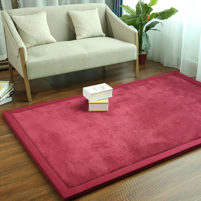 20mm Thickness Japanese Tatami Mats Coral Velvet Carpets For Living ...