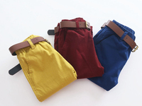Free Shipping New Arrival 2015 Baby Boys Spring Long Pants Kids Solid Cargo Pants Boys