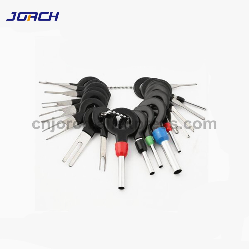 18pcs Car Terminal Removal Tool Kit Harness Wiring Crimp Connector Extractor Puller Release Pin Professional Repair Tools