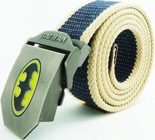 men Batman belt 2017 designer mens fashion casual canvas belt high-quality jeans belts for men Army Green black 110 120cm 140cm