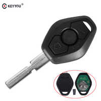 KEYYOU Replacement Remote Control Key 3 Buttons EWS System 315/433MHZ ID44 Chip HU58 For BMW 3 5 7 Series E38 E39 E46