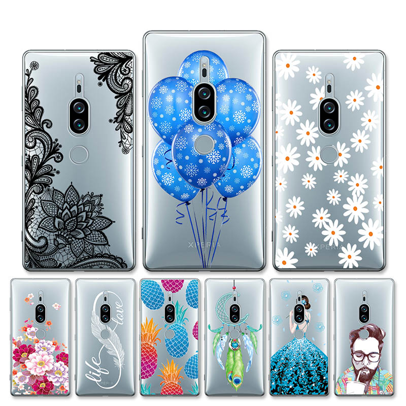 For Case Sony Xperia XZ2 Cover Silicone Phone Cases For Sony XZ2 Compact Soft TPU Bags For Case Sony Xperia XZ2 Premium Coque