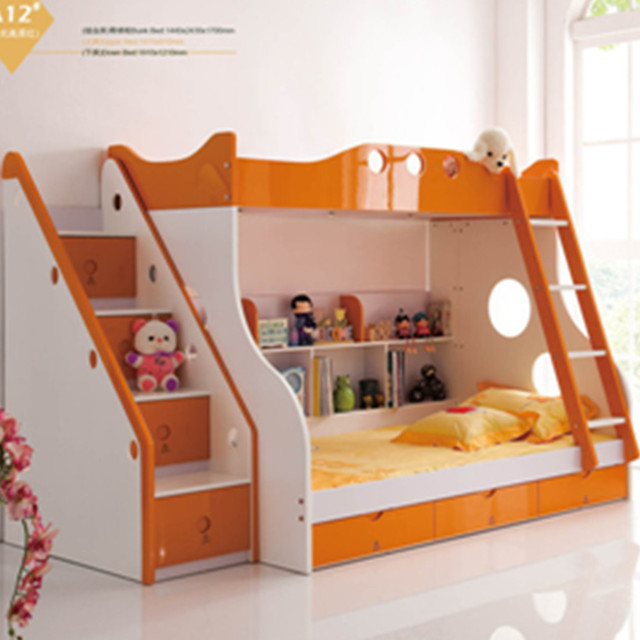 Factory Export Lowest Price Mediterranean Colorful Bunk Bed With