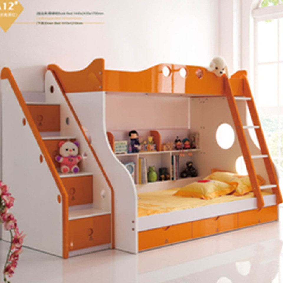 Factory Export Lowest Price Mediterranean Colorful Bunk Bed With Slide Funny Kid Bed Bedroom Sets Aliexpress