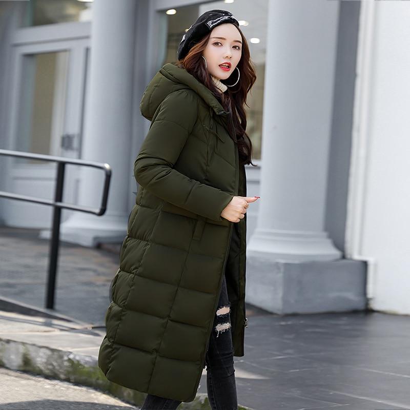 Beige Parkas 2019 Grande noir Bas De Veste Et Femmes Femelle Manteaux D'hiver Longue gris Green Coton En Dames Vers Le army rouge Nouvelle Manteau Vestes Taille Minces NymnOPvw80