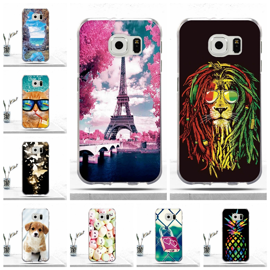 Case For <font><b>Samsung</b></font> Galaxy S6 <font><b>G920</b></font> Case Soft TPU Silicone Phone Cover for <font><b>Samsung</b></font> Galaxy S6 G920F <font><b>SM</b></font>-S6 Covers Capas Fundas Cases image