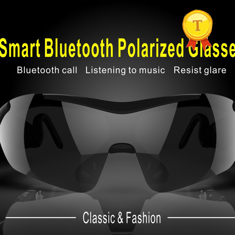 New design wireless bluetooth headset sunglasses smart Bluetooth BT Glasses Stereo Earphone Polarized Mobile Phone Sunglasses