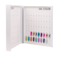 nail color practice stand 120 Colors Nail Gel Polish Display Card Book Color Board Professional Salon Gel Tips Display Card