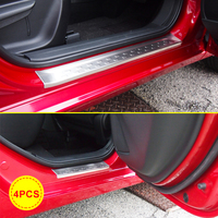 For 2015 2018 Mazda 2 Demio DL Sedan DJ Hatchback Stainless Steel Solid Door Sill Scuff Plate Protector Accessories 4 Pieces/Set
