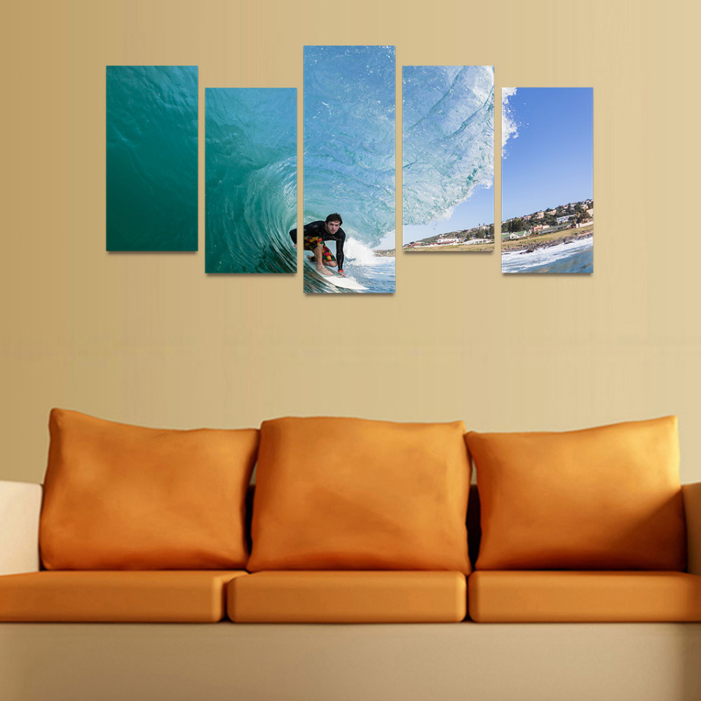 Awesome Surfer Wall Art Motif - Wall Art Collections ...