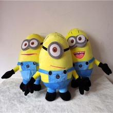 12″ Despicable ME Movie Minions Plush Toy 32cm 3D eye Jorge Stewart Dave Funny Toys  Gift For Kids Bithday Gift 3pcs/set