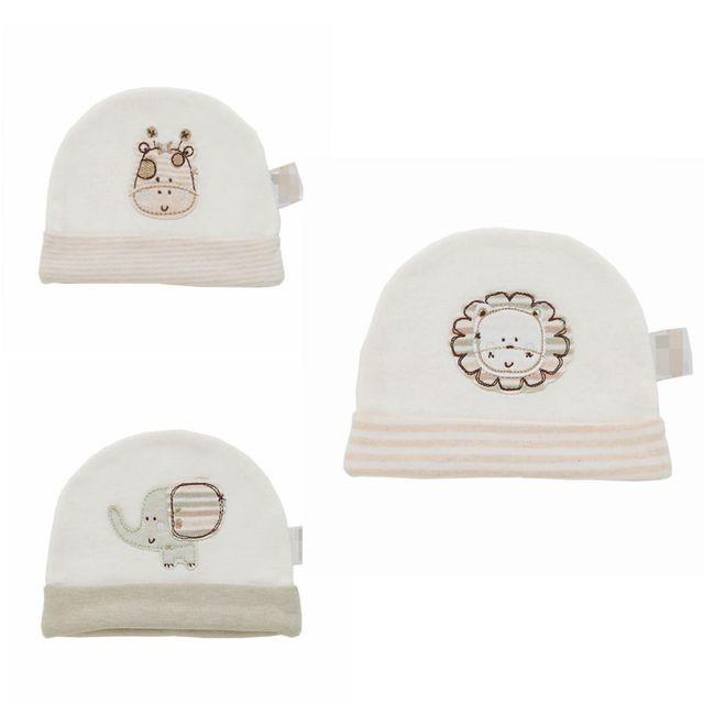 LionBear Newborn hat baby cap for boy Cute 100% Organic Cotton 0-3 months Soft beanies for baby girls hats Baby Accessories