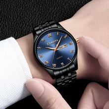 2019 Fashion Men'S Watch Relogio Masculino Business Date Mens Watches Top Brand Luxury Steel Reloj Hombre Gold Erkek Kol Saati ik colouring luxury brand mechanical hand wind watches nail scale hollow hardlex full steel business mens watch erkek kol saati