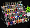 Acrylic Makeup Cosmetic 5 Tiers Clear Organizer Lipstick Jewelry Display Stand Holder Nail Polish Rack 31X22