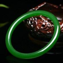 Внешний монгольский материал, тонкая секция, старая яма, шпинат, зеленый круглый, нефритовый браслет ob03