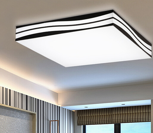 Modern Led Ceiling Light Living Room Lamp DIY Brief Lighting Wave Lamps 85265V In Lights From On Aliexpress
