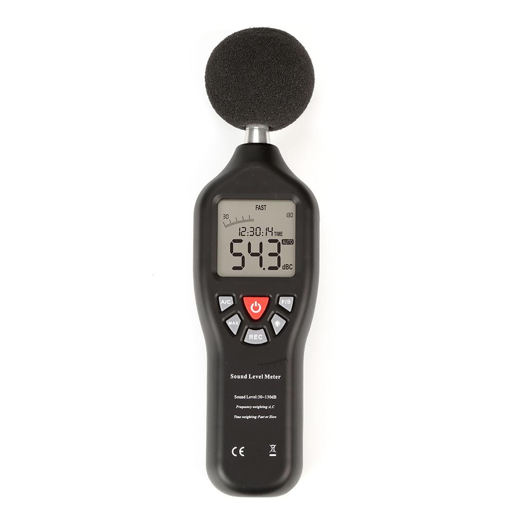 New Digital Sound Pressure tester Level Meter 30~130dB Decibel Noise Measurement with USB Function 1 unit of digital sound pressure level meter 30 130 db decibel noise measurement