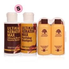 High Quality 100ml 8% Formalin Brazilian Keratin Hair Treatment Straighten Frizzy Hair+100ml Purifying Shampoo+Free Travel Set