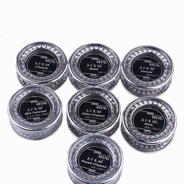 XFKM NI80/A1/316 5m/roll Alien fused Clapton for RDA RBA Rebuildable Atomizer Heating Wires Coil Tool Alien Clapton Heating Wire 4
