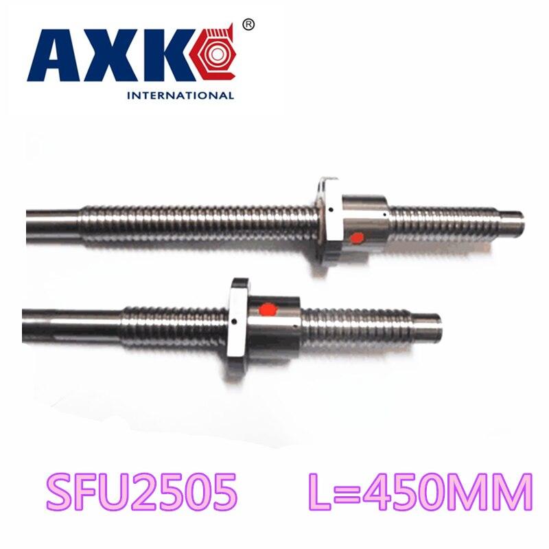 Anti Backlash Ballscrews 2505 -L 450mm + 1pcs SFU2505 single ballnut for CNC Machining Linear X Y Z Working Table