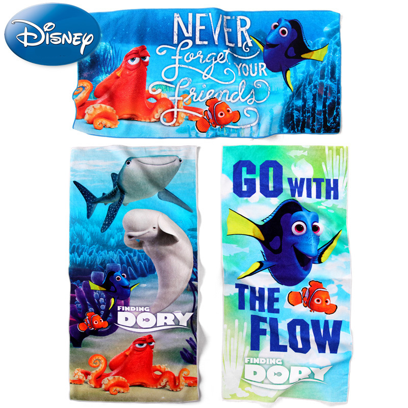 Disney 70*140cm Finding Nemo 2 Pattern Bath Towel Digital Print Bath Towels цена