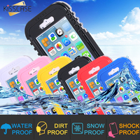 Crystal Ultra Thin Waterproof Swimming Cover For Apple Iphone 4 4S 5 5S Hybrid Full Watertight
