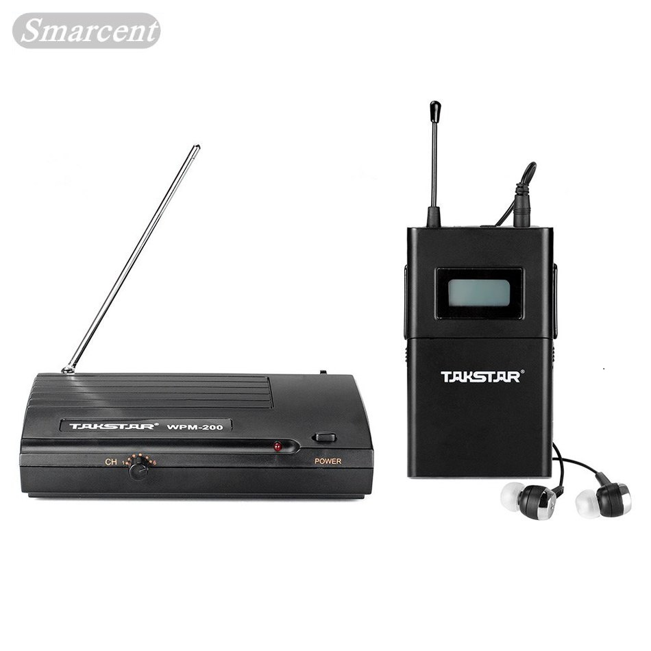 High Quality New TAKSTAR wpm-200 In Ear Professional Stage Wireless Monitor System receiver transmitter with earphone