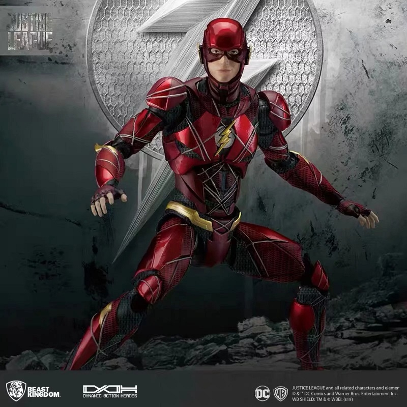 BK DC Justice League Dah 006 dynamic Action the flash Moveable Action Figure Figma in Action Toy Figures from Toys Hobbies