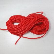 Красный диаметр 3 мм прочная эластичная резиновая Леска рыболовная веревка 5-10 м рыболовные аксессуары хорошее качество резиновая леска для ловли рыб